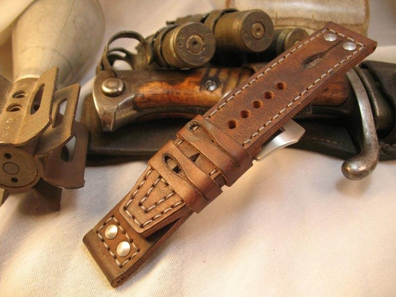 V1 Loop tail Pilot style stitch rivets